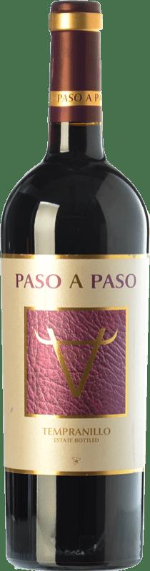 5,95 € Envío gratis | Vino tinto Volver Paso a Paso Joven I.G.P. Vino de la Tierra de Castilla Castilla la Mancha España Tempranillo Botella 75 cl