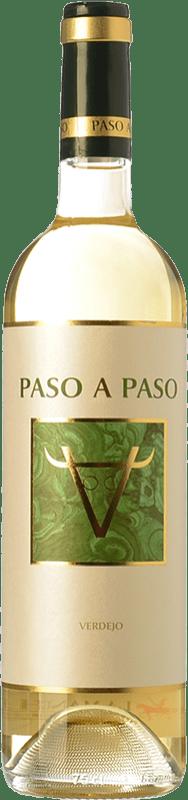 5,95 € Envío gratis | Vino blanco Volver Paso a Paso D.O. La Mancha Castilla la Mancha España Verdejo Botella 75 cl