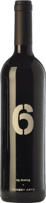 13,95 € Free Shipping | Red wine Winery Arts Seis al Revés Crianza Spain Tempranillo, Merlot Bottle 75 cl