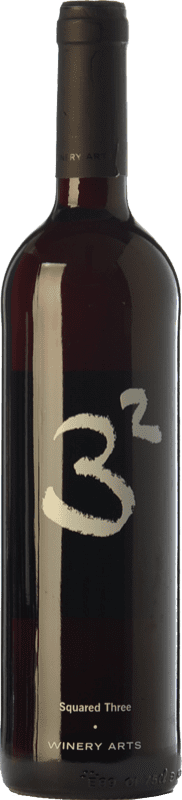 5,95 € Free Shipping | Red wine Winery Arts Tres al Cuadrado Crianza Spain Tempranillo, Merlot, Grenache Bottle 75 cl