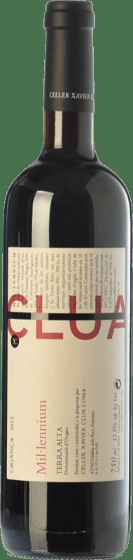 18,95 € Free Shipping | Red wine Xavier Clua Mil·lennium Crianza D.O. Terra Alta Catalonia Spain Merlot, Syrah, Grenache, Cabernet Sauvignon, Pinot Black Bottle 75 cl