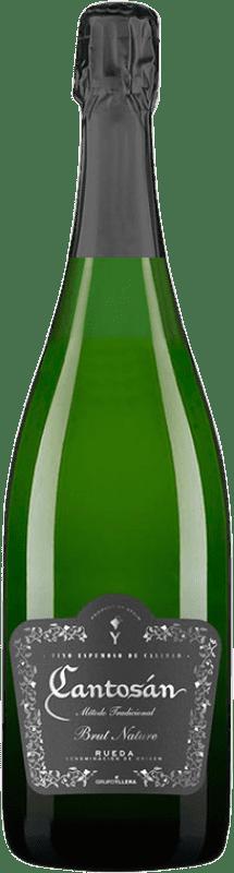 6,95 € Envío gratis | Espumoso blanco Yllera Cantosán Brut Nature D.O. Rueda Castilla y León España Verdejo Botella 75 cl
