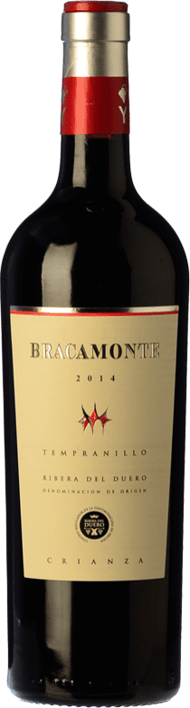 12,95 € Envío gratis | Vino tinto Yllera Bracamonte Crianza D.O. Ribera del Duero Castilla y León España Tempranillo Botella 75 cl