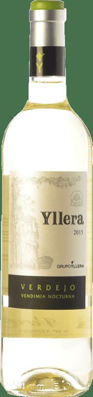8,95 € Free Shipping | White wine Yllera Joven D.O. Rueda Castilla y León Spain Verdejo Bottle 75 cl
