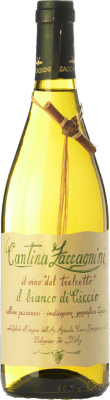 8,95 € Envío gratis | Vino blanco Zaccagnini Il Bianco di Ciccio dal Tralcetto D.O.C. Abruzzo Abruzzo Italia Trebbiano, Chardonnay Botella 75 cl