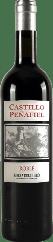 8,95 € Envío gratis | Vino tinto Thesaurus Castillo de Peñafiel 6 Meses Crianza D.O. Ribera del Duero Castilla y León España Tempranillo Botella 75 cl