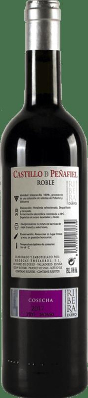 6,95 € Free Shipping | Red wine Thesaurus Castillo de Peñafiel 6 Meses Crianza D.O. Ribera del Duero Castilla y León Spain Tempranillo Bottle 75 cl