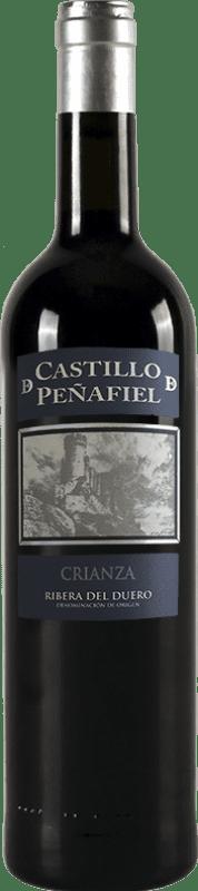 13,95 € Envío gratis | Vino tinto Thesaurus Castillo de Peñafiel 12 Meses Crianza D.O. Ribera del Duero Castilla y León España Tempranillo Botella 75 cl