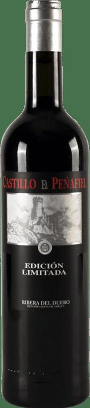 23,95 € Envío gratis | Vino tinto Thesaurus Castillo de Peñafiel 18 Meses Reserva D.O. Ribera del Duero Castilla y León España Tempranillo Botella 75 cl