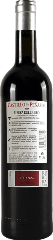 21,95 € Free Shipping | Red wine Thesaurus Castillo de Peñafiel 18 Meses Reserva D.O. Ribera del Duero Castilla y León Spain Tempranillo Bottle 75 cl