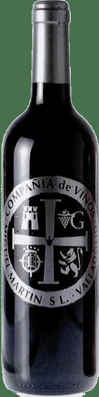 3,95 € Envío gratis | Vino tinto Thesaurus Cosechero Joven España Tempranillo Botella 75 cl