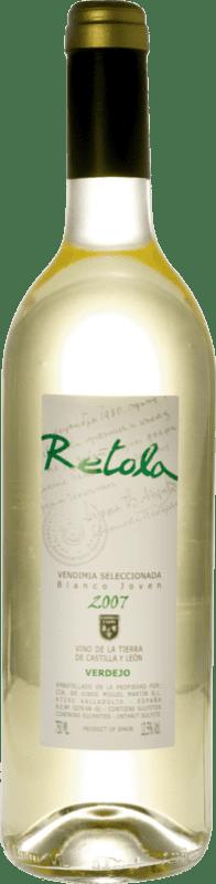 6,95 € Free Shipping | White wine Thesaurus Retola Vendimia Seleccionada Joven I.G.P. Vino de la Tierra de Castilla y León Castilla y León Spain Viura, Verdejo, Sauvignon White Bottle 75 cl