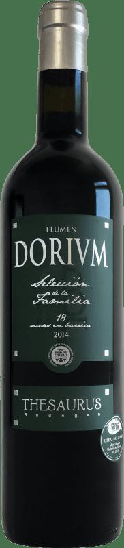 19,95 € Free Shipping | Red wine Thesaurus Flumen Dorium 18 Meses Reserva D.O. Ribera del Duero Castilla y León Spain Tempranillo Bottle 75 cl