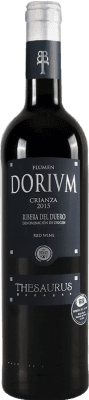 9,95 € Free Shipping | Red wine Thesaurus Flumen Dorium 12 Meses Crianza D.O. Ribera del Duero Castilla y León Spain Tempranillo Bottle 75 cl | Thousands of wine lovers trust us to get the best price guarantee, free shipping always and hassle-free shopping and returns.