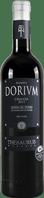 12,95 € Free Shipping | Red wine Thesaurus Flumen Dorium 12 Meses Crianza D.O. Ribera del Duero Castilla y León Spain Tempranillo Bottle 75 cl