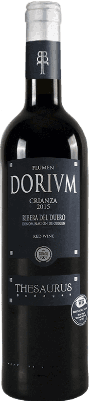 12,95 € Spedizione Gratuita | Vino rosso Thesaurus Flumen Dorium 12 Meses Crianza D.O. Ribera del Duero Castilla y León Spagna Tempranillo Bottiglia 75 cl