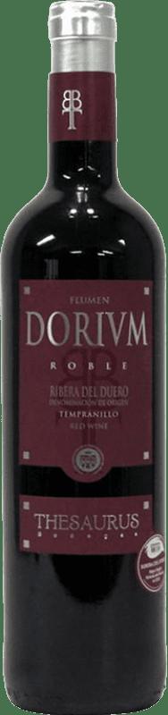 8,95 € Free Shipping | Red wine Thesaurus Flumen Dorium 6 Meses Crianza D.O. Ribera del Duero Castilla y León Spain Tempranillo Bottle 75 cl