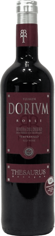 7,95 € Free Shipping | Red wine Thesaurus Flumen Dorium Roble D.O. Ribera del Duero Castilla y León Spain Tempranillo Bottle 75 cl