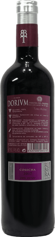 8,95 € Free Shipping | Red wine Thesaurus Flumen Dorium Roble D.O. Ribera del Duero Castilla y León Spain Tempranillo Bottle 75 cl