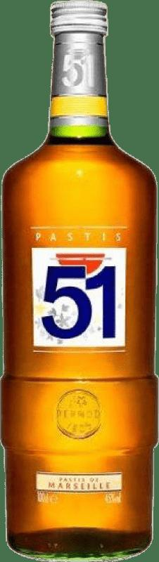 15,95 € Free Shipping   Pastis Pernod Ricard 51 Missile Bottle 1 L
