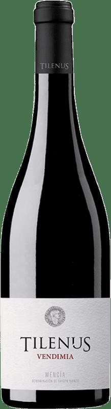 5,95 € Free Shipping | Red wine Estefanía Tilenus Vendimia D.O. Bierzo Castilla y León Spain Mencía Bottle 75 cl