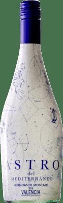 5,95 € Free Shipping | White wine Murciano & Sampedro Astro del Mediterráneo D.O. Utiel-Requena Spain Muscat Bottle 75 cl