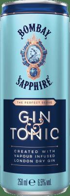 36,95 € Free Shipping | 12 units box Soft Drinks & Mixers Bombay Sapphire Gin & Tonic Lata 25 cl