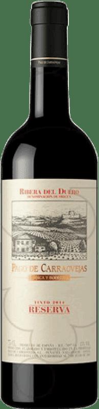 99,95 € Kostenloser Versand | Rotwein Pago de Carraovejas Reserva D.O. Ribera del Duero Kastilien und León Spanien Magnum-Flasche 1,5 L