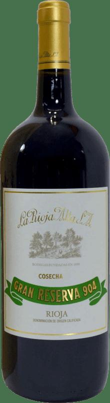 93,95 € Envío gratis | Vino tinto Rioja Alta 904 Gran Reserva D.O.Ca. Rioja La Rioja España Botella Mágnum 1,5 L
