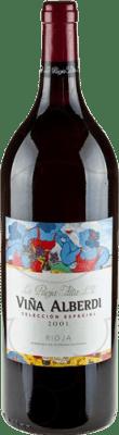 22,95 € Envío gratis | Vino tinto Rioja Alta Viña Alberdi Crianza D.O.Ca. Rioja La Rioja España Botella Mágnum 1,5 L