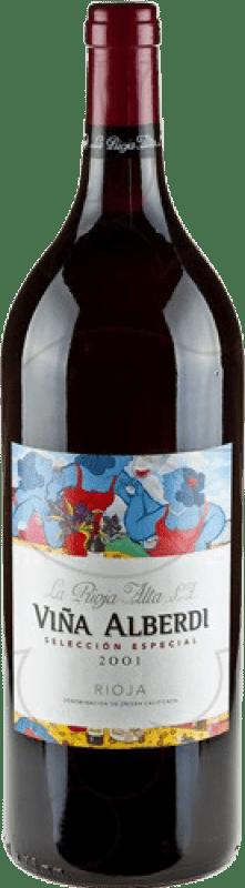 25,95 € Spedizione Gratuita | Vino rosso Rioja Alta Viña Alberdi Crianza 2011 D.O.Ca. Rioja La Rioja Spagna Bottiglia Magnum 1,5 L