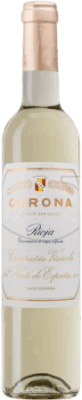 18,95 € Kostenloser Versand | Verstärkter Wein Norte de España - CVNE Corona Halb Trocken D.O.Ca. Rioja La Rioja Spanien Macabeo Halbe Flasche 50 cl