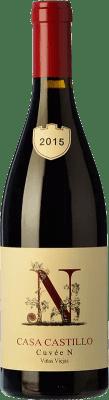 57,95 € Kostenloser Versand | Rotwein Casa Castillo Cuvée N Viejas Viñas D.O. Jumilla Levante Spanien Monastrell Flasche 75 cl