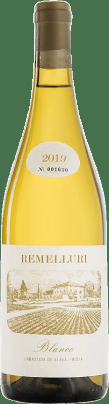 53,95 € Envío gratis | Vino blanco Ntra. Sra de Remelluri Crianza D.O.Ca. Rioja La Rioja España Garnacha Blanca, Roussanne, Moscatel, Viognier, Chardonnay, Sauvignon Blanca, Marsanne Botella 75 cl