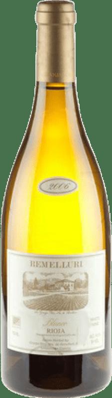 129,95 € Envío gratis | Vino blanco Ntra. Sra de Remelluri Crianza D.O.Ca. Rioja La Rioja España Garnacha Blanca, Roussanne, Moscatel, Viognier, Chardonnay, Sauvignon Blanca, Marsanne Botella Mágnum 1,5 L