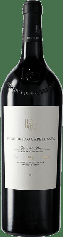 56,95 € Free Shipping | Red wine Pago de los Capellanes Reserva D.O. Ribera del Duero Castilla y León Spain Tempranillo, Cabernet Sauvignon Magnum Bottle 1,5 L