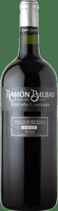 24,95 € Spedizione Gratuita | Vino rosso Ramón Bilbao Edicion Limitada Crianza D.O.Ca. Rioja La Rioja Spagna Tempranillo Bottiglia Magnum 1,5 L