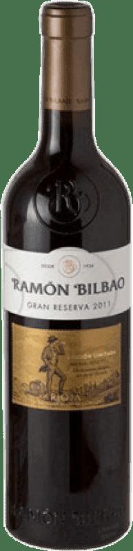 19,95 € Spedizione Gratuita | Vino rosso Ramón Bilbao Edición Limitada Gran Reserva 2011 D.O.Ca. Rioja La Rioja Spagna Tempranillo, Grenache, Graciano Bottiglia 75 cl