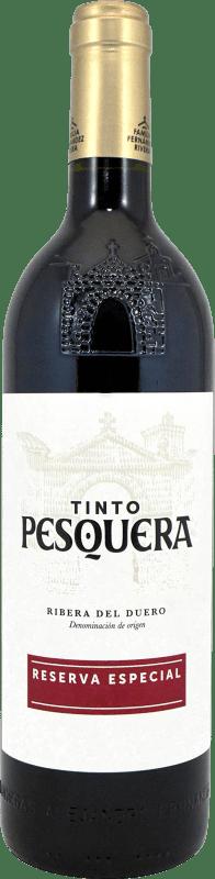 29,95 € Envío gratis | Vino tinto Pesquera Especial Reserva D.O. Ribera del Duero Castilla y León España Tempranillo Botella 75 cl