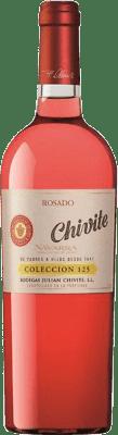 23,95 € Kostenloser Versand | Rosé-Wein Chivite Colección 125 Joven D.O. Navarra Navarra Spanien Tempranillo, Grenache Flasche 75 cl