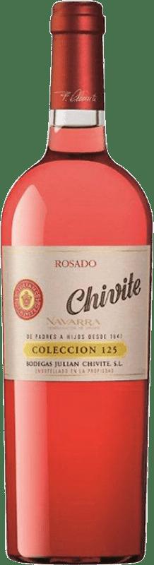 21,95 € Free Shipping | Rosé wine Chivite Colección 125 Joven D.O. Navarra Navarre Spain Tempranillo, Grenache Bottle 75 cl