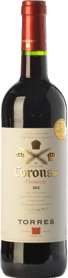 6,95 € Free Shipping | Red wine Torres Coronas Crianza D.O. Catalunya Catalonia Spain Tempranillo, Cabernet Sauvignon Bottle 75 cl