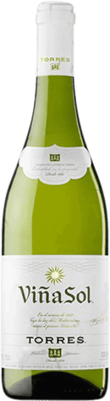 6,95 € Free Shipping | White wine Torres Viña Sol Dry Joven D.O. Catalunya Catalonia Spain Parellada Bottle 75 cl