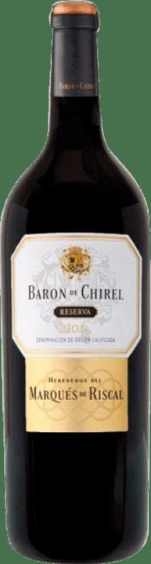 117,95 € Envoi gratuit   Vin rouge Marqués de Riscal Barón de Chirel Reserva 2005 D.O.Ca. Rioja La Rioja Espagne Tempranillo Bouteille Magnum 1,5 L