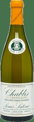 26,95 € Бесплатная доставка | Белое вино Louis Latour Chanfleure Crianza A.O.C. Chablis Франция Chardonnay бутылка 75 cl
