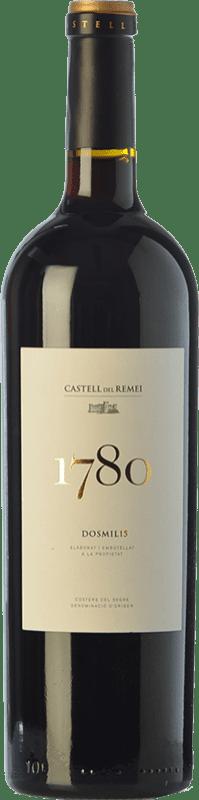 19,95 € Envío gratis | Vino tinto Castell del Remei N.1780 Reserva D.O. Costers del Segre Cataluña España Tempranillo, Garnacha, Cabernet Sauvignon Botella 75 cl