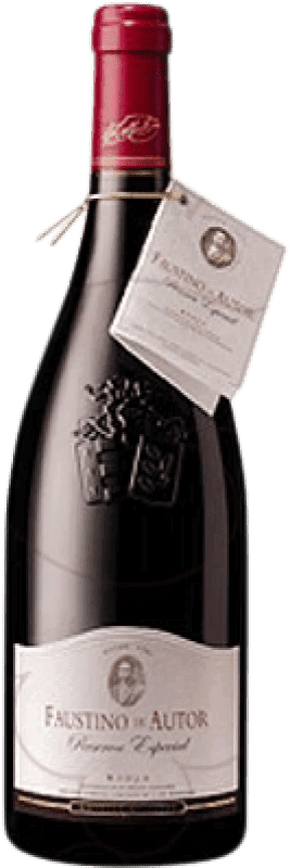 23,95 € Envío gratis | Vino tinto Faustino Autor Reserva D.O.Ca. Rioja La Rioja España Tempranillo, Graciano Botella 75 cl