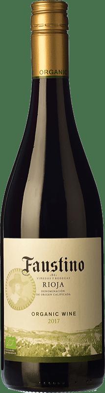 5,95 € Free Shipping | Red wine Faustino Organic Joven D.O.Ca. Rioja The Rioja Spain Tempranillo Bottle 75 cl