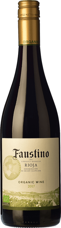 5,95 € Envío gratis | Vino tinto Faustino Organic Joven D.O.Ca. Rioja La Rioja España Tempranillo Botella 75 cl