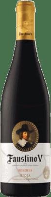 5,95 € Envío gratis | Vino tinto Faustino V Negre Reserva D.O.Ca. Rioja La Rioja España Tempranillo, Mazuelo, Cariñena Media Botella 37 cl